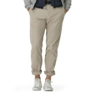 Club Monaco Men's Kennedy Mid Rise Khaki Chinos